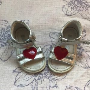 Falcotto heart ♥️ sandals. GUC. Size 4